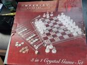 IMPERIAL Classic Toy 3N1 CRYSTAL CHESSS AND CHECKER SET